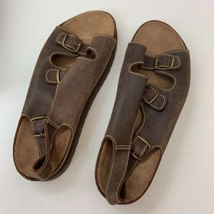 New Terrain Sandals Brown Sling Back Comfort